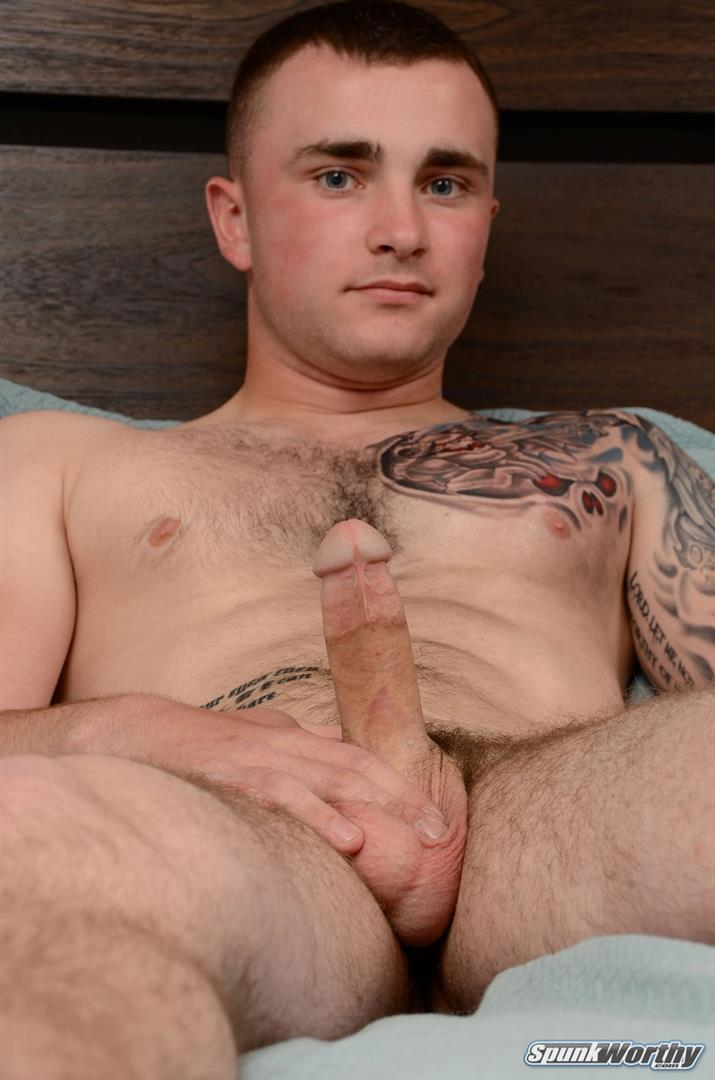 SpunkWorthy-Baird-Straight-Marine-Jerking-His-Big-Cock-Amateur-Gay-Porn-07 Straight Young Marine Doing His First Ever Jerk Off On Cam