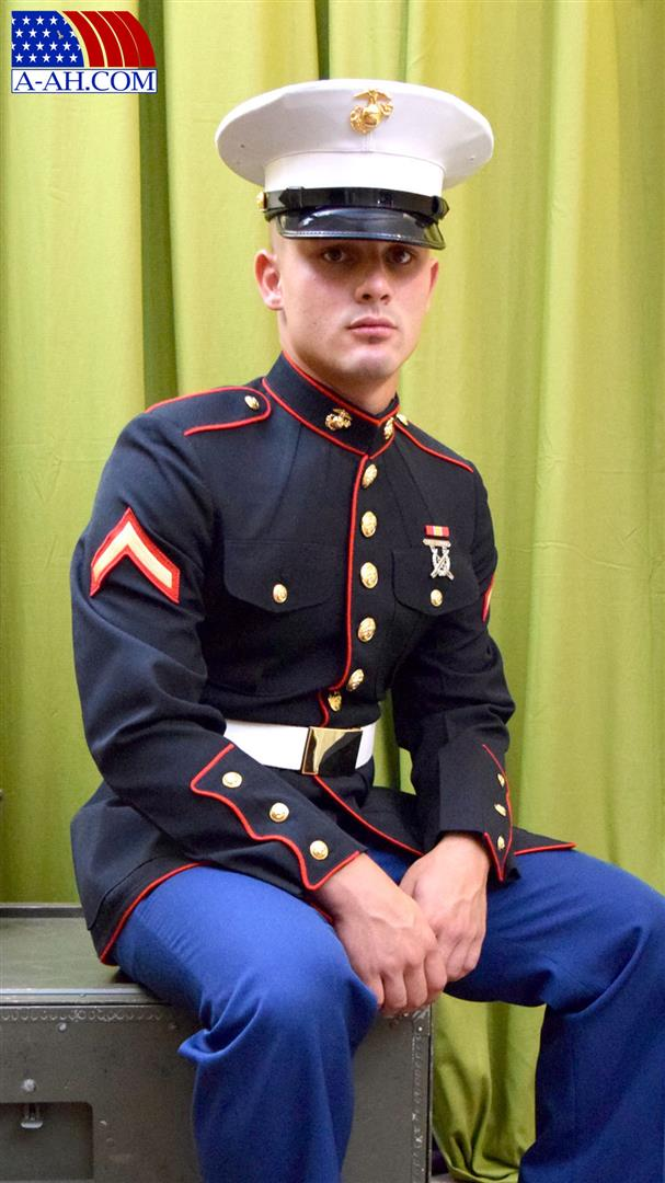 All American Heroes Lance Corporal Roque Naked Marine Jerking His Thick Uncut Cock Amateur Gay Porn 01 United States Marine Stroking His Thick Uncut Cock