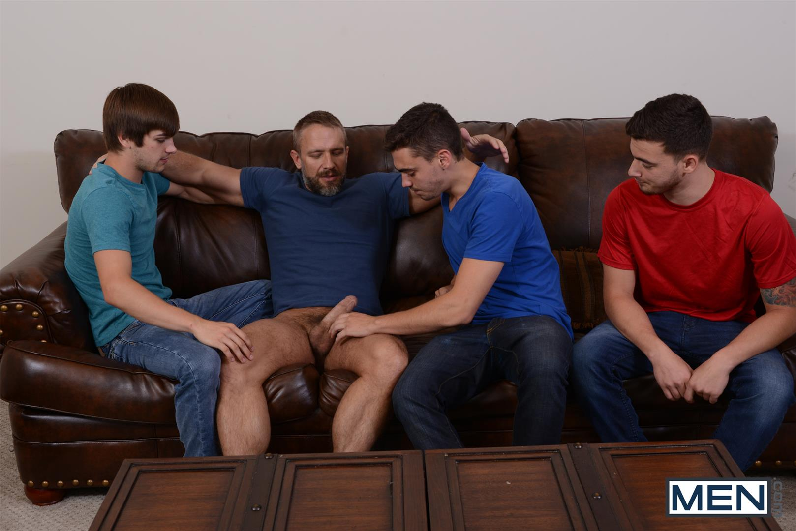 Men-Jizz-Orgy-Asher-Hawk-and-Dirk-Caber-and-Johnny-Rapid-and-Trevor-Spade-Triple-Penetrated-In-the-Ass-Amateur-Gay-Porn-03 Stepfather Dirk Caber Gets TRIPLE Penetrated By His Stepsons