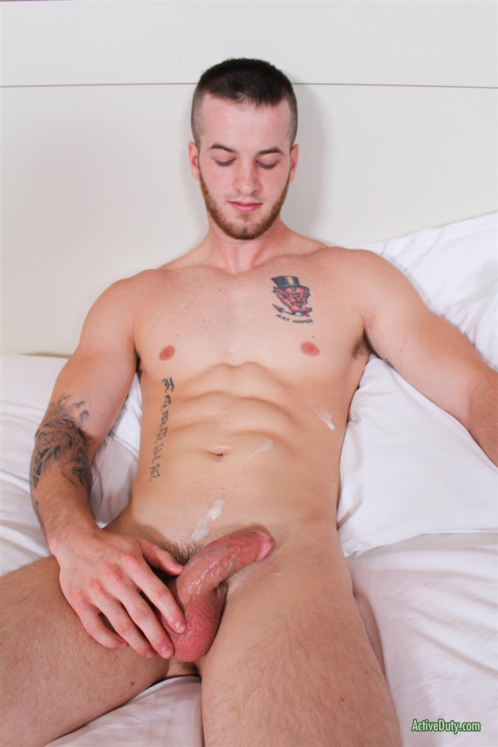 Active-Duty-Quentin-Muscular-Naked-Army-Soldier-Masturbating-Big-Cock-Amateur-Gay-Porn-14 Straight Army Private Stokes His Big Cock On Video For The First Time