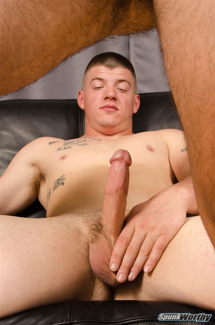 SpunkWorthy-Landon-and-Eddie-Straight-Army-Guy-Fucks-His-First-Ass-Amateur-Gay-Porn-10 Straight Army Hunk Barebacks His First Man Ass