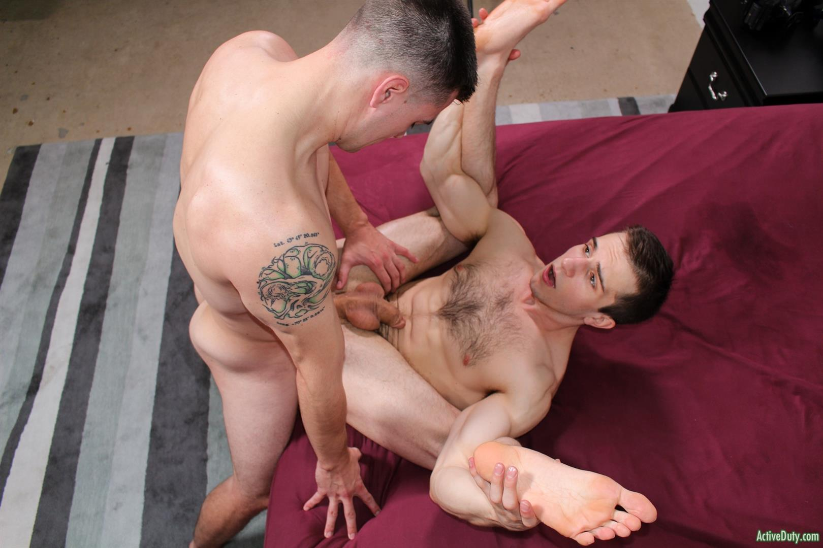 Active-Duty-Donte-Thick-and-Princeton-Price-Naked-Army-Guys-Fucking-Bareback-13 Getting Bareback Fucked In The Ass By A Thick Army Dick